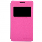NILLKIN Protective PU Leather + PC Case Cover for Sony Xperia E1 (D2105) - Dark Pink