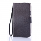 ENKAY Protective PU Leather Case w/ Card Slots for Samsung Galaxy S5 G900 - Dark Grey