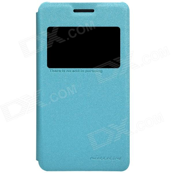 NILLKIN Protective PU Leather + PC Case Cover for Sony Xperia E1(D2105 )- BlueLeather Cases<br>Color Blue Brand NILLKIN Model SONY Xperia E1(D2105) Material PU+PC Quantity 1 Piece Shade Of Color Blue Compatible Models Sony Xperia E1(D2105) Packing List 1 x Case<br>