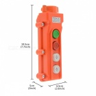 COB 61A Rainproof Push Button Switch - Orange + White + Multicolored (250~ 500V)