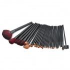Tragbare Professionelle Kunststoff + Nylon Wolle Kosmetik Make-up Pinsel Set - Schwarz (32 PCS)