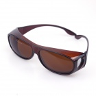 Sys023 Fashionable Sports Polaroid UV400 Sunblock Sunglasses Goggles -Transparent tawny