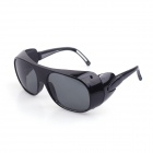 Sys025 Windproof Glass Lens UV400 Sunblock Sunglasses Goggles - Black