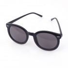 Sys029 Women's Stylish Retro UV400 Sunblock Round Sunglasses - Black