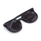 Moda do Sys029 Mulheres Retro UV400 Sunblock Rodada Sunglasses - preto