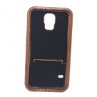 Retro Protective Walnut Wood Wooden Back Case for Samsung Galaxy S5