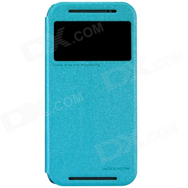 NILLKIN Protective PU Leather + PC Case for HTC New One (M8) - Blue nillkin protective pu leather pc case cover for htc d316d d516t red