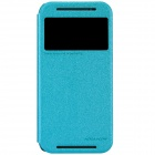 NILLKIN Protective PU Leather + PC Case for HTC New One (M8) - Blue