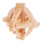 Wooden Puzzle Brain Teaser IQ Toy - Wood