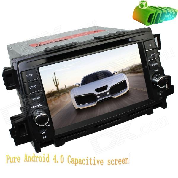 LsqSTAR 7 Android Capacitive Screen Car DVD Player w/ GPS, Radio, BT, TV, SWC, AUX for Mazda CX-5 joyous 1 6g dual core android 4 2 capacitive screen car dvd w radio gps rds bt wifi 3g