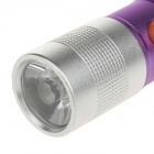 TLY-325 Fashionable LED 50lm White Light Aluminum Alloy Mini Flashlight - Purple + Silver (3 x AAA)