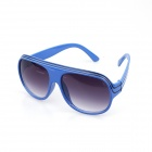 Sys003 Fashionable Retro UV400 Sunblock Blue-Frame Sunglasses - Blue + Black