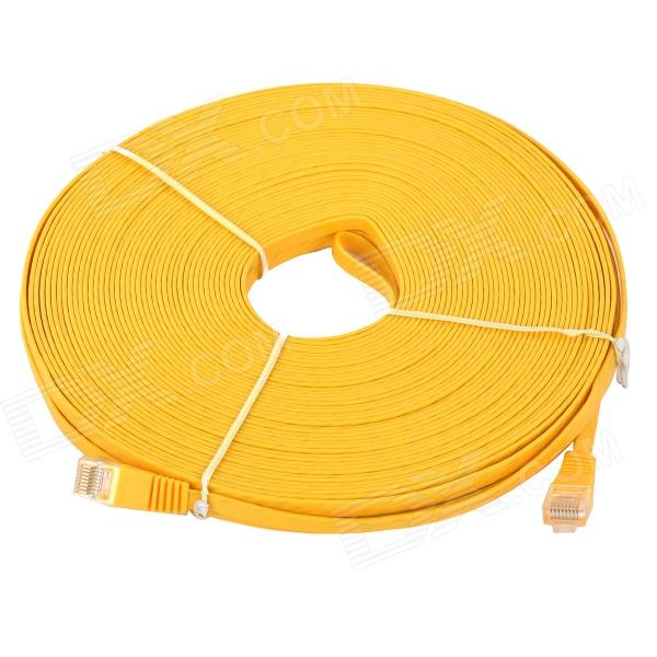utp-cat6-flat-network-cable-router-switch-more-yellow-30m