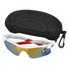 OULAIOU UV400 Protection PC Lens Plastic Frame Sunglasses - Multicolor