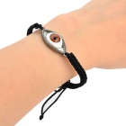DYSL-080 Cool Eye Style Zinc Alloy + Glass Bracelet - White + Black + Multi-color