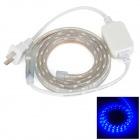 LetterFire Waterproof 4.8W 60-5050 SMD LED Blue Light LED Strip - Transparent (AC 220V / US Plug)