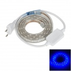LetterFire Waterproof 4.8W 60-5050 SMD LED Blue Light LED Strip - Transparent (AC 220V / EU Plug)