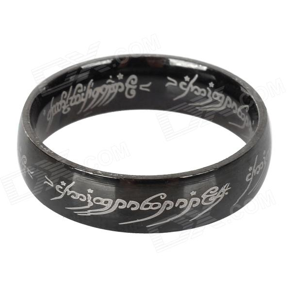 Ring-to-rule-them-all 316L Stainless Steel Ring - Black (Size 11) ring to rule them all 316l stainless steel ring black size 11 5