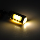 AF 13mm G4 5W 300LM 3000K 4-COB Warm White Light Lamp - Silver + jaune (12V DC)