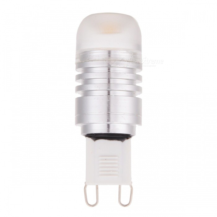 FY G9 2W 120LM 3000K 1-COB Warm White Light Lamp - Silver + Transparent (DC 12V)