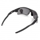 OULAIOU Sports UV400 Protection PC Lens Plastic Frame Sunglasses - Grey + Black