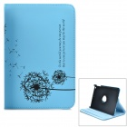 KWEN ioa088 Dandelion Rotary PU Leather Case w/ Stand for RETINA IPAD MINI - Blue + Black