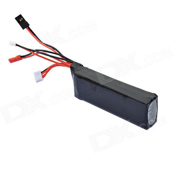 11.1V 2200mAh Transmitter Battery for Walkera DEVO7 / DEVO10 / JR FUTABA Series Transmitter - Black