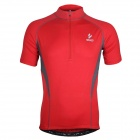 ARSUXEO AR665 Polyester Cycling Short-Sleeves Jersey - Red (Size XL)
