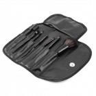 MAKE-UP FOR YOU Portable Fiber Hair Cosmetic Makeup 7-in-1 Brushes Set - Black