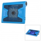 Hunpol NB-090 USB 2.0 3-Port 13-Blade Cooling Pad w/ Speaker / Blue LED for Laptops - Blue + Black