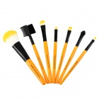 MAKE-UP FOR YOU Portable Fiber Hair Cosmetic Makeup 7-in-1 Brushes Set - Yellow