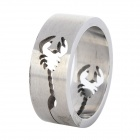 Fenlu XZJZ-022 Men's Hollow Scorpion Pattern Stainless Steel Ring - Silver (7.1)