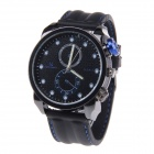 Super Speed Men's Fashionable Silicone Wristband Analog Quartz Wrist Watch - Black (1 x LR626)
