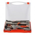PLURE 6-in-1 Household Tool Combination Kit - Black + Orange