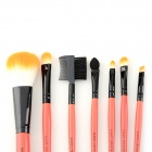 MAKE-UP FOR YOU Portable Fiber Hair Cosmetic Makeup 7-in-1 Brushes Set - Orange