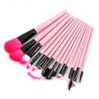 MAKE-UP FOR YOU Professional Portable Cosmetic Makeup Brushes Set - Pink (15 PCS)