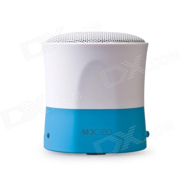 MOCREO MINI Ultra-Portable Wireless Bluetooth V3.0 Speaker w/ Microphone - Blue + White wireless bluetooth speaker led audio portable mini subwoofer