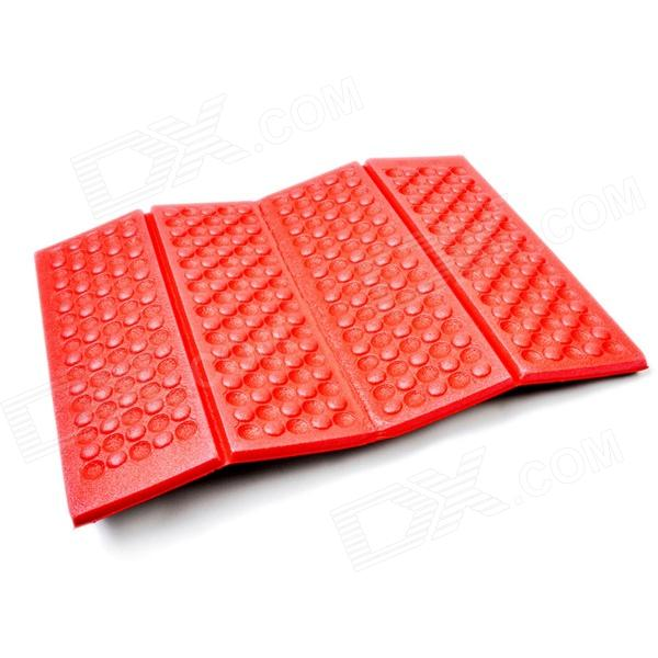 Acecamp Portable 4-Fold Outdoor Camping Moistureproof Pad - Red + Black