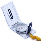 Acecamp 3113 Camping Hiking Foldable Map Compass - Transparent + Black