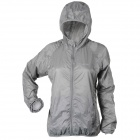 Thefree FB3403 Ultrathin Nylon Windbreaker for Women - Grey (Size XL )