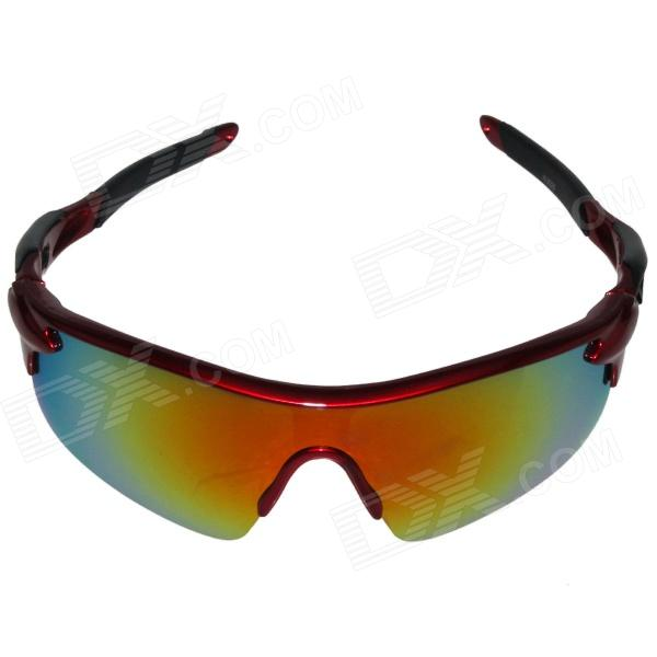 Outdoor Fishing Riding Man UV Protection Glasses - Red + Black riding wild