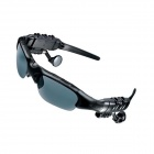Fashionable Bluetooth V2.1 + EDR Headset Resin Sunglasses - Black