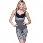 Fashion Bamboo Fiber Body Beautifying Tight One-Piece Underwear - Grey