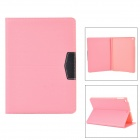 Stylish Flip Open PU Case w/ Stand /Auto Sleep for IPAD AIR - Pink + Black