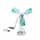 Creative Desktop USB 3-Blade Fan -Transparent white