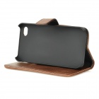 Retro Protective PU Leather Case w/ Stand for IPHONE 4 / 4S - Brown