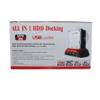 "All-in-1 Dual HDD Docking Station with One Touch Backup for 2.5""/3.5"" SATA/IDE HDD"
