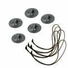 BZ BZ21B Safety Tether for Gopro Hero 4/ 3+ / 3 / 2 / 1 / SJ4000 - Black (5 PCS)
