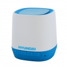 Hyundai i80 Portable USB Rechargeable Bluetooth V3.0 + EDR Stereo Speaker w/ TF Slot - Blue + White