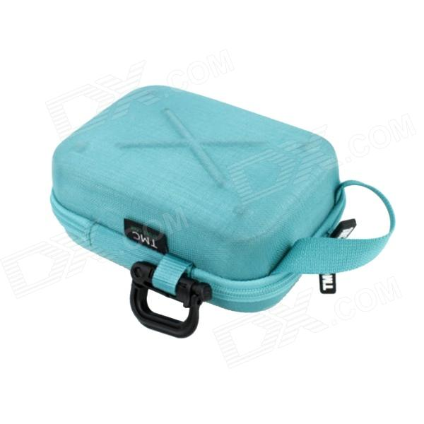 TMC Medium Size Protective EVA Camera Storage Bag for Gopro Hero 4/ 3+ / 3 / 2 - Blue neopine travel portable camera accessories storage bag for gopro hero 2 3 3 4 red